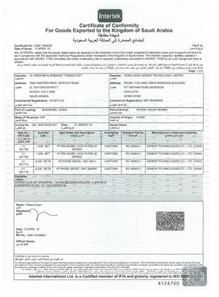 PBX SASO Certificate